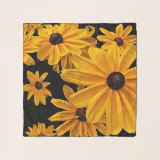 Echarpe Susan de olhos pretos floresce o lenço floral do