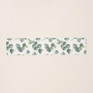 Echarpe Teste padrão da folha do eucalipto