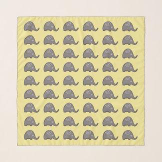 Echarpe Teste padrão espiral bonito bonito dos elefantes