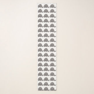 Echarpe Teste padrão espiral bonito chique dos elefantes