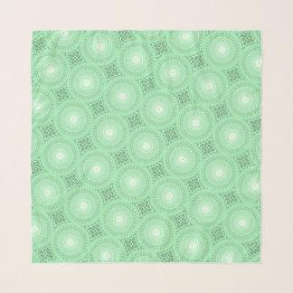 Echarpe Teste padrão verde dos círculos do primavera