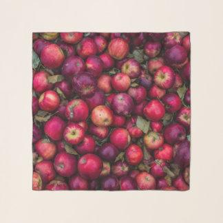 Echarpe Teste padrão vermelho das maçãs do verão
