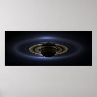 Eclipse 3 de Saturn Pôster