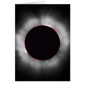 Eclipse solar, 1999 cartão