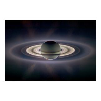 Eclipse solar de Saturn Pôster