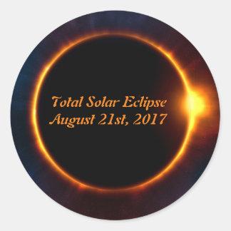 Eclipse solar etiqueta total do 21 de agosto de