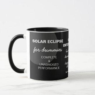 Eclipse solar para customizável engraçado dos caneca