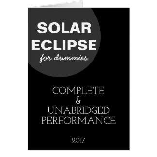Eclipse solar para customizável engraçado dos cartão comemorativo