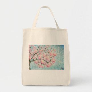 Eco Bolsa de Arte com Estampa de Ipê Rosa