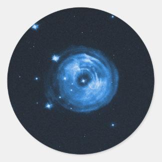 Eco claro da estrela V838 Monocerotis Adesivos Em Formato Redondos