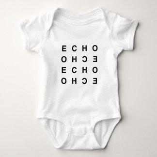 eco tipográfico limpo mínimo body para bebê