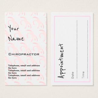 """""""Ecoa"""" cartões da nomeação do Chiropractor"""