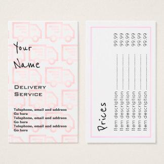 """""""Ecoa"""" cartões de preço da entrega"""