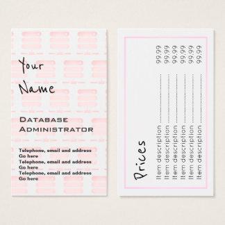 """""""Ecoa"""" cartões de preço do administrador de base"""