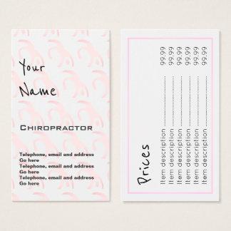 """""""Ecoa"""" cartões de preço do Chiropractor"""