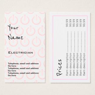 """""""Ecoa"""" cartões de preço do eletricista"""