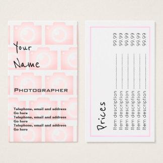 """""""Ecoa"""" cartões de preço do fotógrafo"""