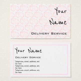 """""""Ecoa"""" cartões de visitas da entrega"""