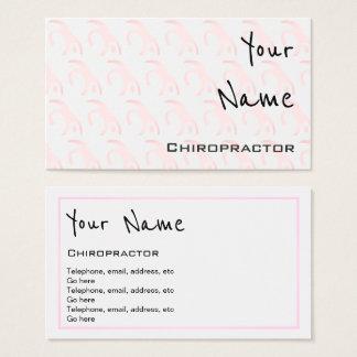 """""""Ecoa"""" cartões de visitas do Chiropractor"""