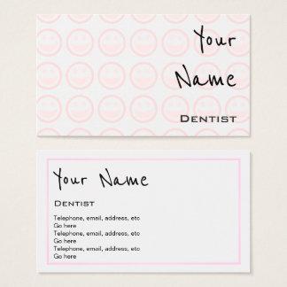 """""""Ecoa"""" cartões de visitas do dentista"""