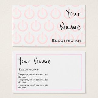 """""""Ecoa"""" cartões de visitas do eletricista"""