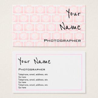 """""""Ecoa"""" cartões de visitas do fotógrafo"""