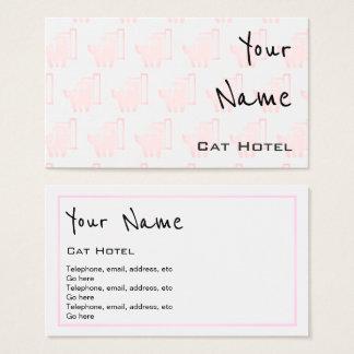 """""""Ecoa"""" cartões de visitas do hotel do gato"""