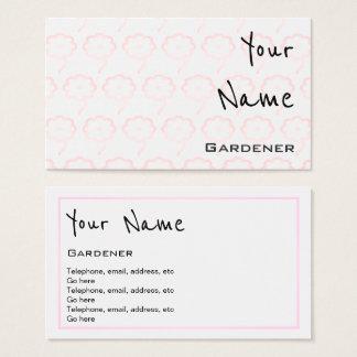 """""""Ecoa"""" cartões de visitas do jardineiro"""