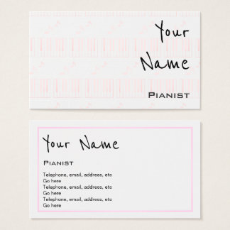 """""""Ecoa"""" cartões de visitas do pianista"""