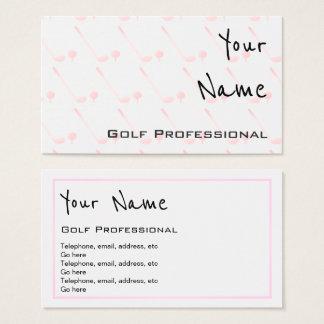 """""""Ecoa"""" cartões de visitas do profissional do golfe"""