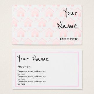 """""""Ecoa"""" cartões de visitas do Roofer"""