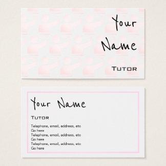 """""""Ecoa"""" cartões de visitas do tutor"""