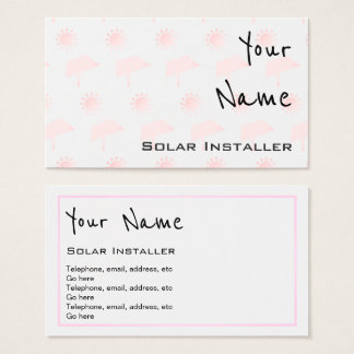 """""""Ecoa"""" cartões de visitas solares"""