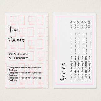 """""""Ecoa"""" Windows e cartões de preço das portas"""