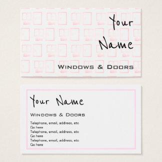 """""""Ecoa"""" Windows e cartões de visitas das portas"""