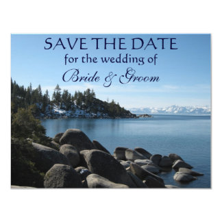 Economia--Data de Lake Tahoe Convite 10.79 X 13.97cm