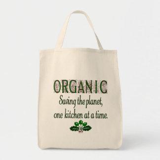 Economia orgânica a cozinha do planeta que diz a s sacola tote de mercado