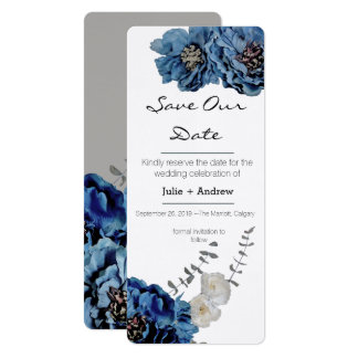 Economias azuis da flor de veludo nosso cartão de