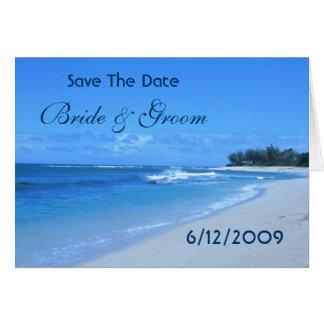 Economias azuis do oceano o cartão de data