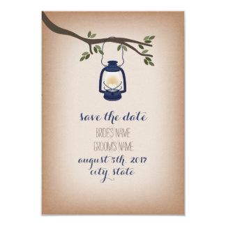 Economias azuis inspiradas Cardstock da lanterna Convite 8.89 X 12.7cm