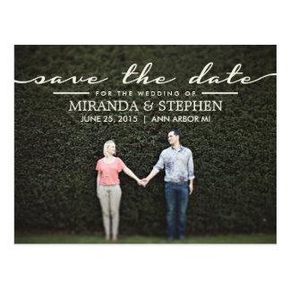 Economias chiques simples do casamento o cartão da cartões postais