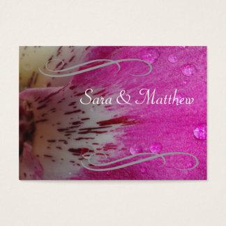 Economias cor-de-rosa da orquídea a data cartão de visitas