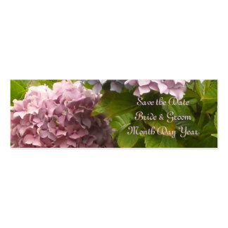 Economias cor-de-rosa do Hydrangea a data Cartões De Visitas