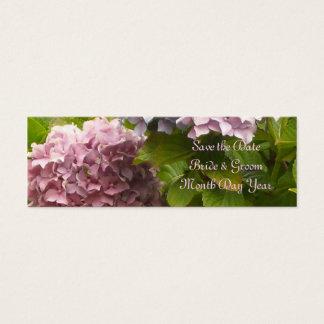 Economias cor-de-rosa do Hydrangea a data Cartão De Visitas Mini