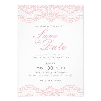 Economias cor-de-rosa românticas do laço o cartão
