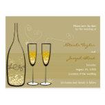 Economias da celebração das bolhas de Champagne a  Cartão Postal