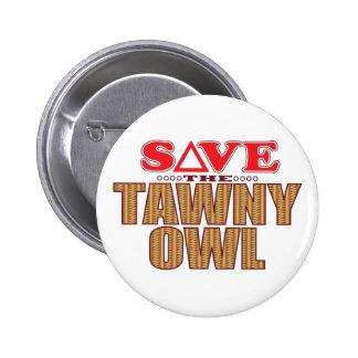 Economias da coruja Tawny Bóton Redondo 5.08cm