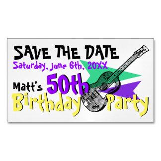 Economias da festa de aniversário da guitarra 50th