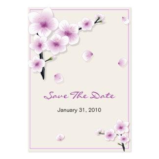 Economias da flor do primavera a data que Wedding  Modelos Cartoes De Visitas