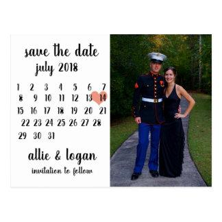 Economias da foto do calendário o cartão da data